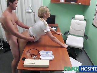 Blondie nurse helps boy win an operative salute with the brush mitts free porn