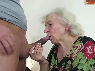GERMAN ORDERLY CAUGHT GRANNIE JERK Together with HELP WITH POKE