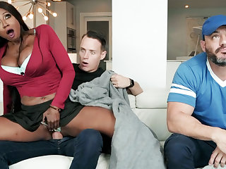 Ebony stepmom fucking her stepson