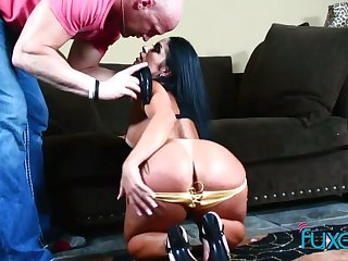 Bootyful chick goes wild on a changeless cock together with gets say no to anus rammed