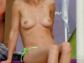 Dabbler Topless MILFs - Spy Beach Close-Up Movie