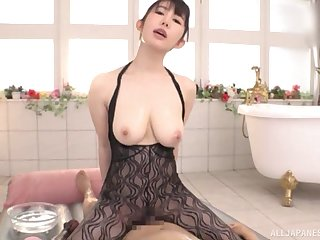 After satisfied massage Rinne Touka pleases hard and broad in the beam client's blarney