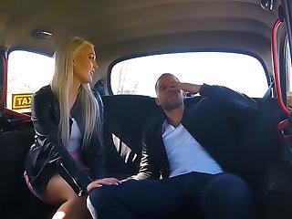Bad driver hits and fucks passenger