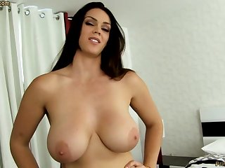 Beast dark-haired nearby broad in the beam funbags, Alison Tyler luvs to deep-throat meatpipe and taste some new jizm