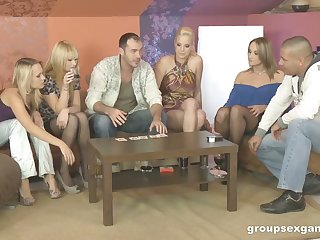 Three swinger couples swap their sex partners and enjoy crazy fix it sex