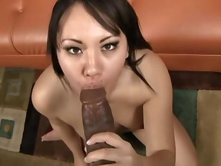 Asian Interracial Blowjob Facial Bukkake With Black Guys