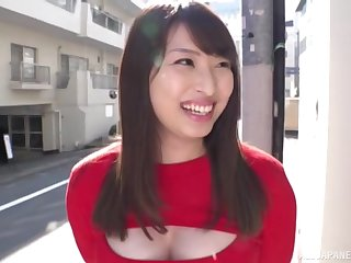 Amateur Japanese wife Akiyama Shouko has clothed mating on every side a small dick