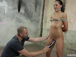 She wanted a 50 shades of Old fuck and she receives a brutal BDSM