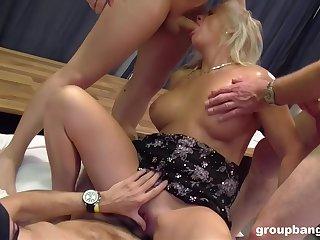 Mature sucks nephew's cock increased by fucks in hardcore