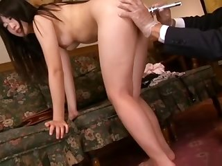Womanlike spy violent throes room electric shock, dripping wax part1