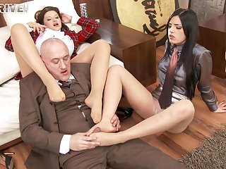 Foursome fucking in an obstacle assignation with Anna Polina and Cecilia De Lys