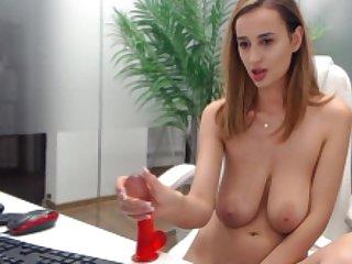 Romanian hot MILF show her big boobs on webcam