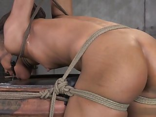ND - headed upon a barrel, spanked, squirts, cums - fidelity 2