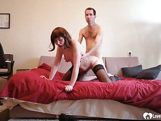 Stepmom in stockings gets pounded without mercy