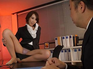 Japanese office lady Aya Kisaki had sex, uncensored