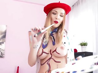 Belle Clair is getting her pussy and ass filled up with dicks, in advance same time