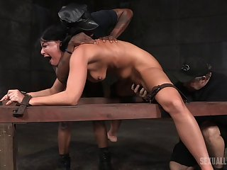 London River loves being tied up and and hardcore fucked by a black guy