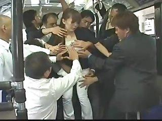 Ganbang in Japan bus