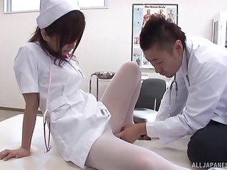 Asian nurse pleases the weaken with the apt porn